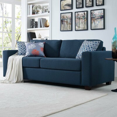 Pauley Sofa Bed Loveseat Upholstery: Navy