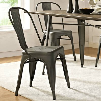 Ashlyn Dining Side Chair Finish: Brown
