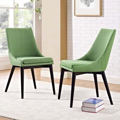 Carlton Dining Side Chair Upholstery: Green