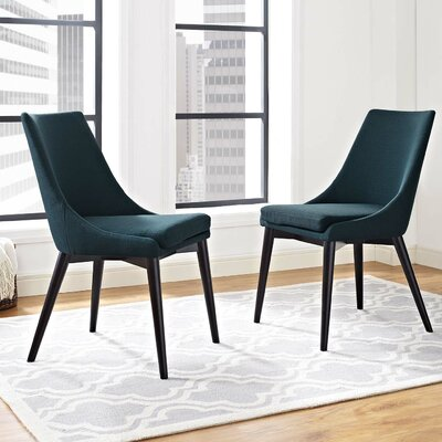 Carlton Dining Side Chair Upholstery: Azure