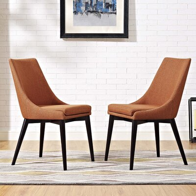 Carlton Dining Side Chair Upholstery: Orange
