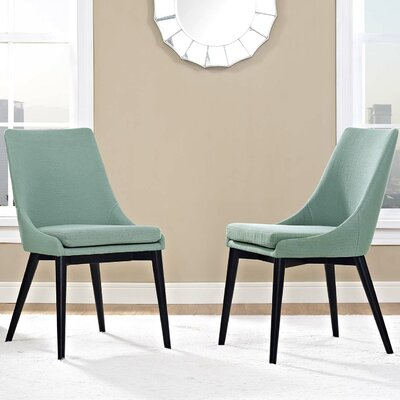 Carlton Dining Side Chair Upholstery: Laguna