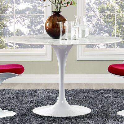 Julien Artificial Marble Dining Table Size: 29.5 H x 47 W x 47 D