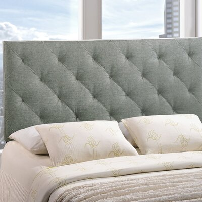 Theodore Upholstered Panel Headboard Size: King, Upholstery: Gray