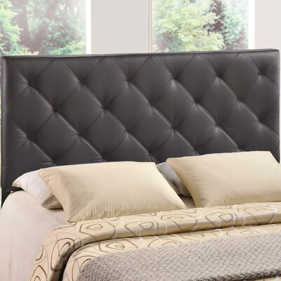 Theodore Queen Upholstered Headboard Upholstery: Brown