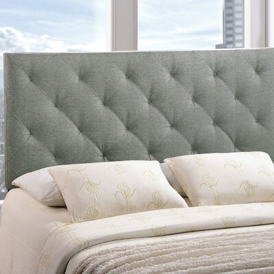 Theodore Queen Upholstered Headboard Upholstery: Gray