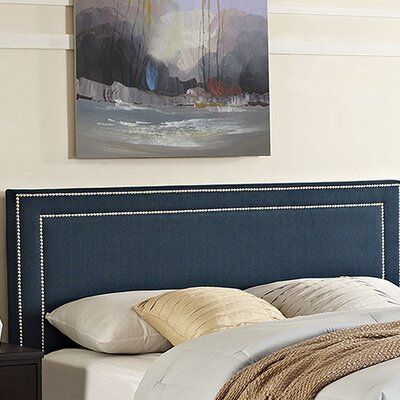 Eyre Upholstered Wood Panel Headboard Size: Full, Upholstery: Azure