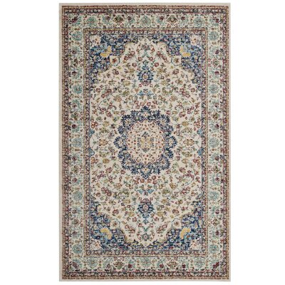 Fincastle Persian Medallion Beige/Brown Area Rug