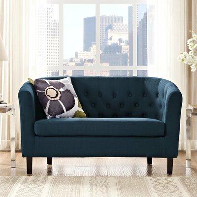 Ziaa Loveseat Upholstery: Azure