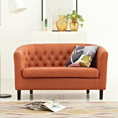 Ziaa Loveseat Upholstery: Orange