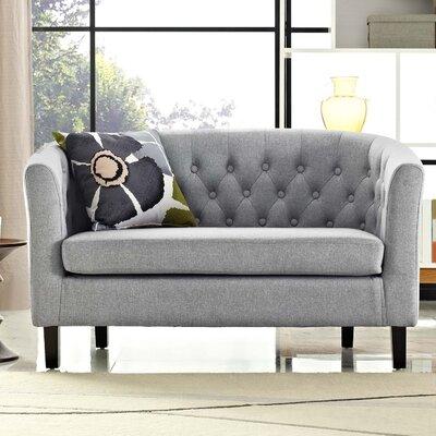 Ziaa Loveseat Upholstery: Light Gray