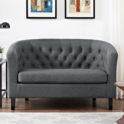 Ziaa Loveseat Upholstery: Gray