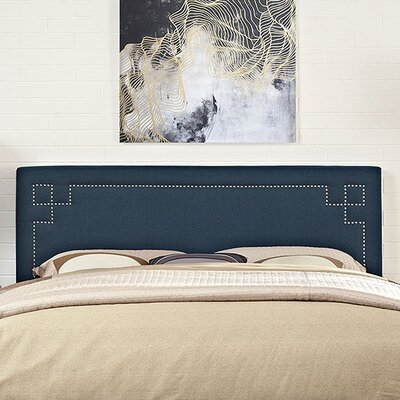Kerley Upholstered Panel Headboard Size: King, Upholstery: Azure