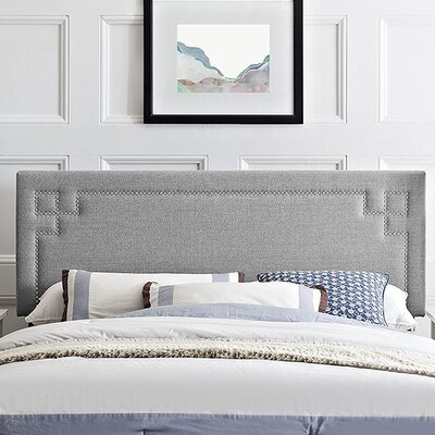Kerley Upholstered Panel Headboard Size: King, Upholstery: Light Gray