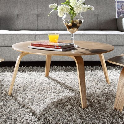 Plywood Coffee Table Color: Natural