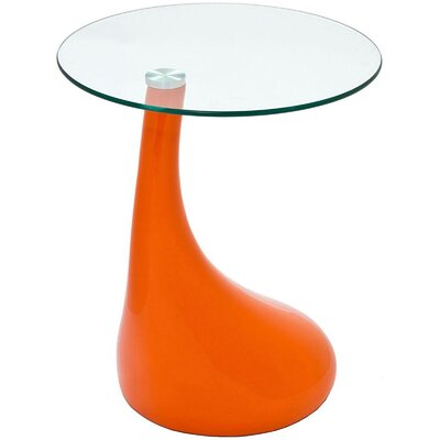 Teardrop End Table Color: Orange