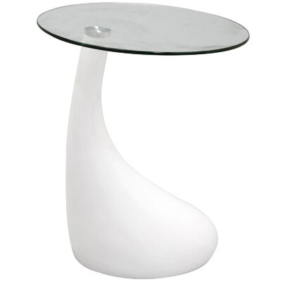 Teardrop End Table Color: White