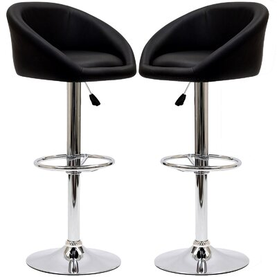 Marshmallow Adjustable Height Swivel Bar Stool