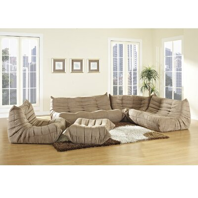 Waverunner 5 Piece Living Room Set Upholstery: Brown