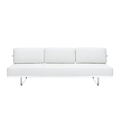 Fancy Leather Sleeper Upholstery: White
