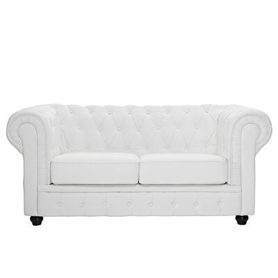 EEI-700-WHI FOW1290 Modway Chesterfield Loveseat