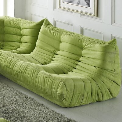 Waverunner 49 Bean Bag Sofa Upholstery: Green