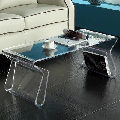 Magazine Coffee Table Finish: Clear