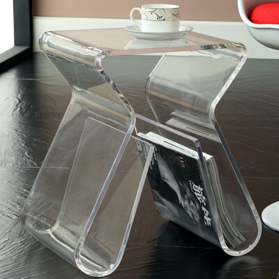 Magazine End Table Color: Clear