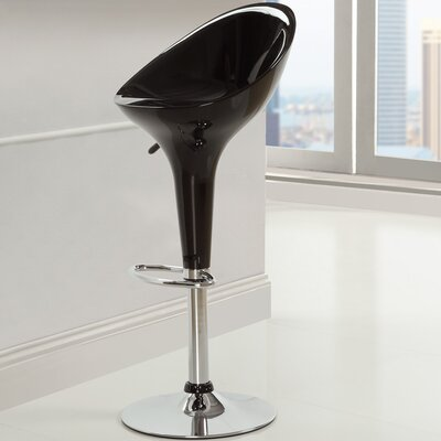 Ice Cream Adjustable Height Swivel Bar Stool Finish: Black