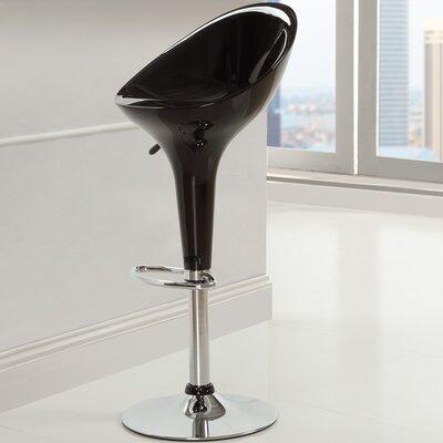 Ice Cream Adjustable Height Swivel Bar Stool Color: Black