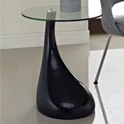 Teardrop End Table Color: Black