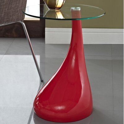 Teardrop End Table Color: Red
