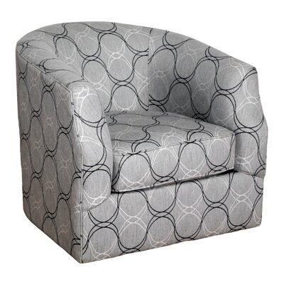 Linwood Curvature Charcoal Swivel Barrel Chair
