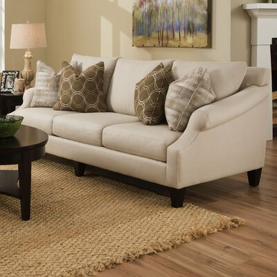 Molly Extra-Long Pique Flax Sofa