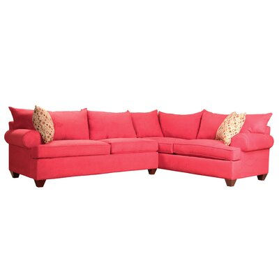 Charo Sleeper Sectional Upholstery: Blaze Red
