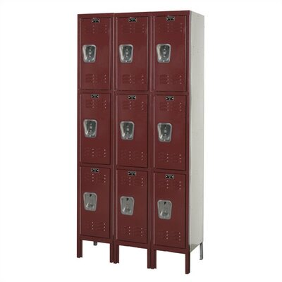 """HALLOWELL Premium Stock Lockers -Triple Tier -3 Sections (Unassembled) (Quick Ship) -Dimensions (WxDxH):12""""x12""""x72"""", Color:Green Mist at Sears.com"""