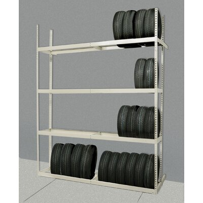 Tire Storage 84 H 4 Shelf Shelving Unit Add-on Row: Double image