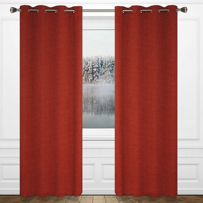 LJ HOME Maestro Window Panels (Set of 2) - Color: Smoldering Red