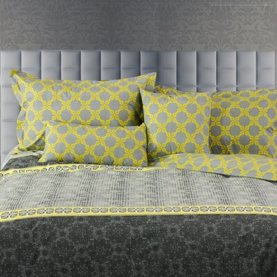 Laurel Line 5 Piece Reversible Duvet Cover Set Size: Queen