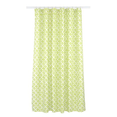 Madison Shower Curtain Set Color: Chartreuse Green/White