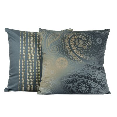 Kalina Paisley Tile Cotton Throw Pillow