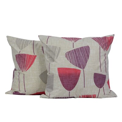 Vintage Wine Glass Print Throw Pillow