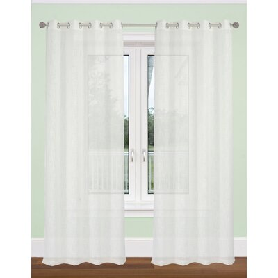Aideen Textured Semi Sheer Curtain Panels