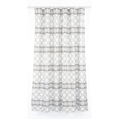 Vogue Line Design Shower Curtain Set Color: Taupe/White