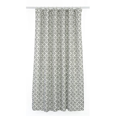 Madison Shower Curtain Set Color: Stone Beige Grey/White