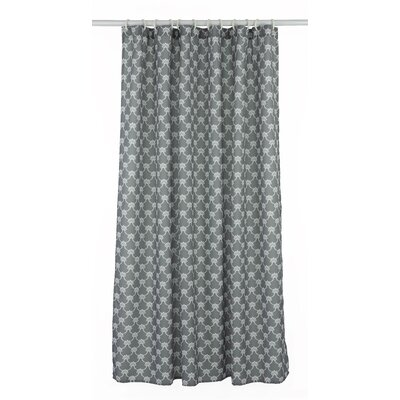 Manhattan Trellis Shower Curtain Set Color: Charcoal Gray/White