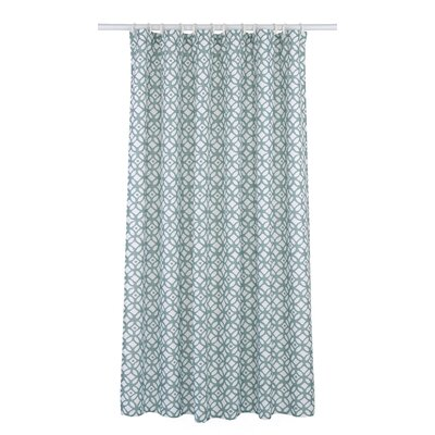 Madison Shower Curtain Set Color: Sea Blue/White