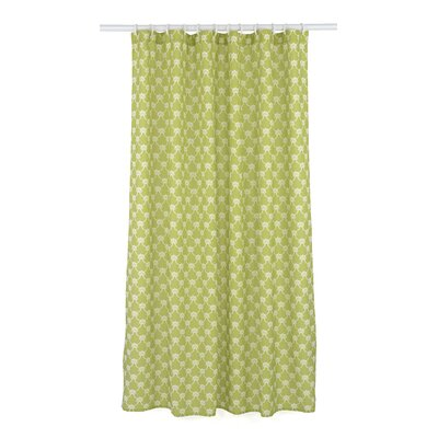 Manhattan Trellis Shower Curtain Set Color: Chartreuse Green/White