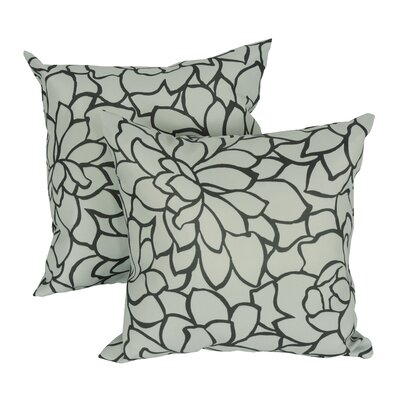 Caddo Floral Print Throw Pillow