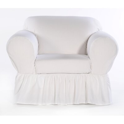 Shabby Chair Skirted Slipcover Upholstery: White